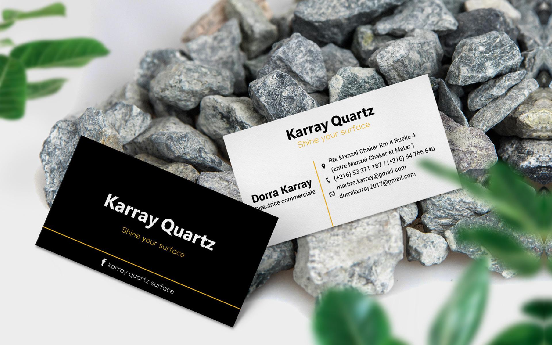 Carte visite Karray Quartz